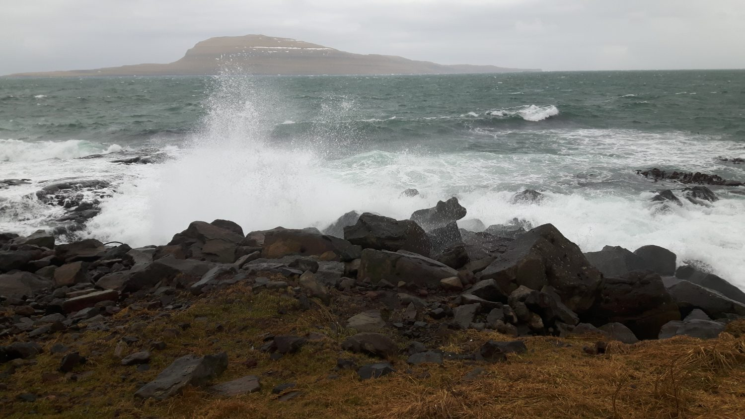 A picture of what Andreas Bennetzen saw recording the sound of the atlantic ocean on Faroe Islands for his upcoming album The Vibration